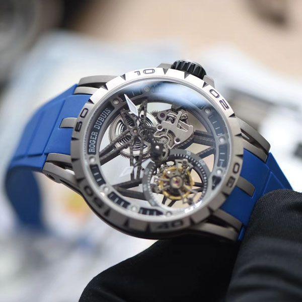 【视频评测】最好的罗杰杜彼王者系列镂空陀飞轮高仿手表