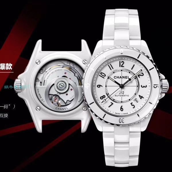 【视频评测】BV厂1比1精仿手表香奈儿背透J12系列H5700女表价格报价