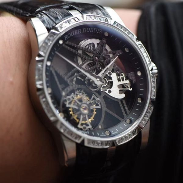 bbr厂复刻手表最新V3+升级版本(升级小勾)罗杰杜彼镂空陀飞轮手表价格