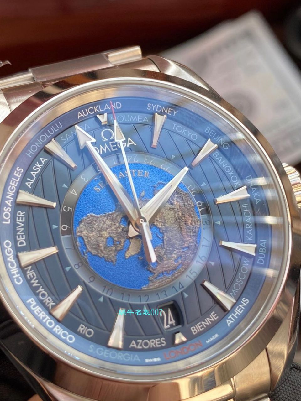 VS厂欧米茄海马150米220.10.43.22.03.001限量版世界时腕表 / VS732