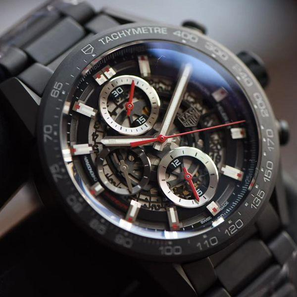 XF厂泰格豪雅卡莱拉全陶瓷带黑骑士CAR2090.BH0729顶级高仿手表