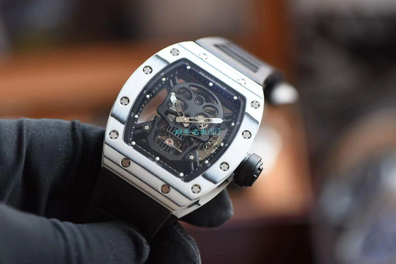 【视频评测】JB厂理查德米勒RM52-01超A高仿手表真陀飞轮碳纤维骷髅头鬼王 / RM52-01C