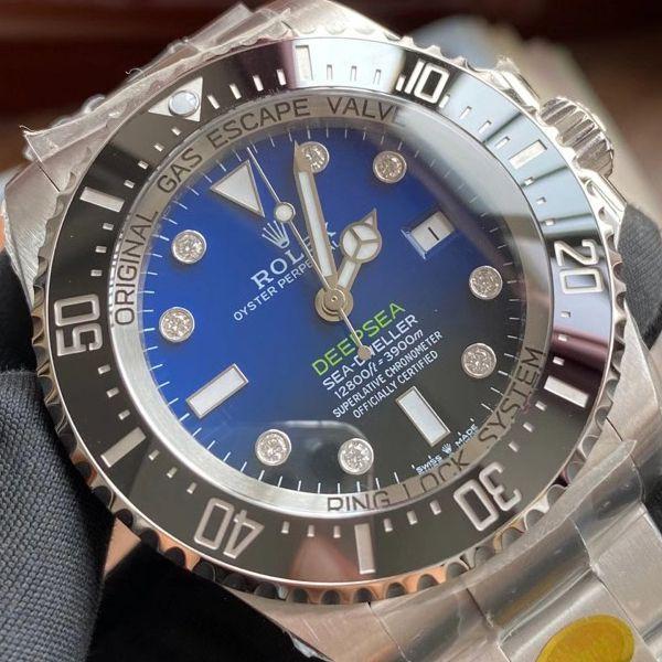 【真钻定制】劳力士渐变蓝鬼王手表m126660-0002订制8颗VS八心八箭真钻刻度价格报价