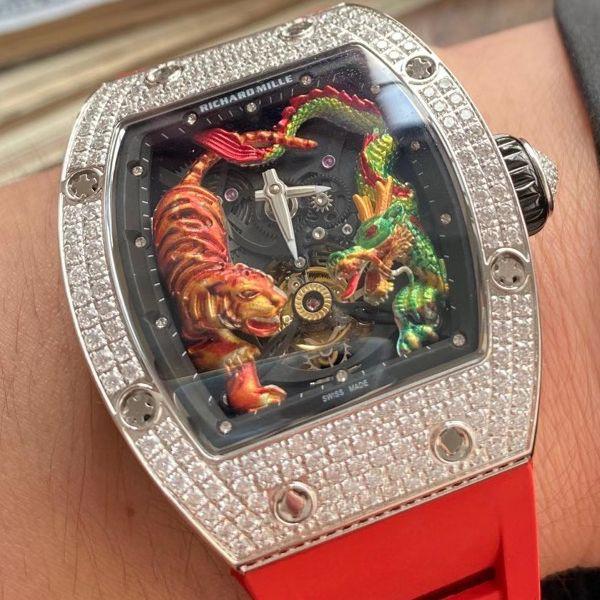 定制款理查德米勒RM 51-01龙虎满钻真超A高仿陀飞轮手表