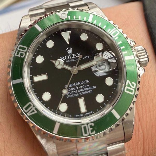 AR厂劳力士ROLEX复古绿水鬼潜航者16610LV-93250复刻手表价格报价