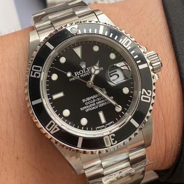 AR厂劳力士ROLEX复古黑水鬼SUB 16610超A高仿手表价格报价