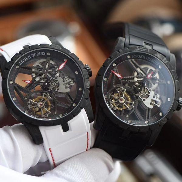 BBR厂最新碳纤维罗杰杜彼王者系列陀飞轮1比1高仿手表DBEX0577腕表
