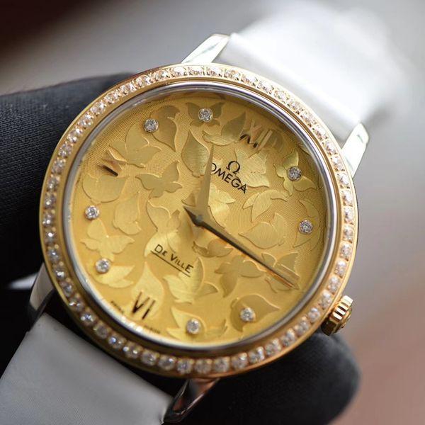 SSS厂欧米茄碟飞系列蝶舞1比1复刻女士手表424.27.33.60.58.001腕表1比1精仿手表