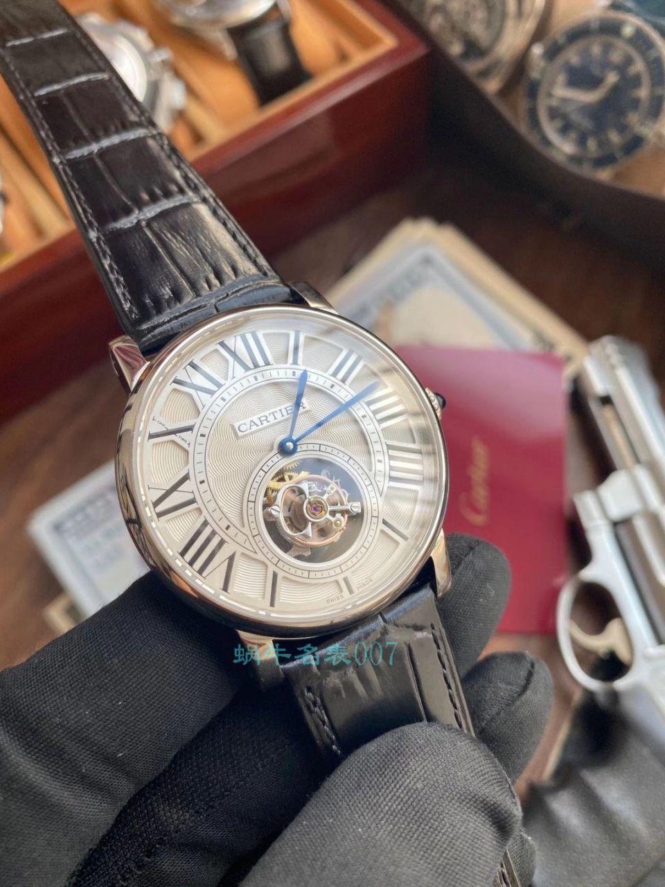 【评测视频】BBR厂卡地亚ROTONDE DE CARTIER 1比1高仿陀飞轮手表W1556215腕表 / K317