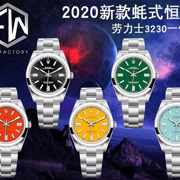 EW厂2020新款劳力士蚝式恒动型41系列1比1高仿手表m124300-0007,m124300-0004,m124300-0006