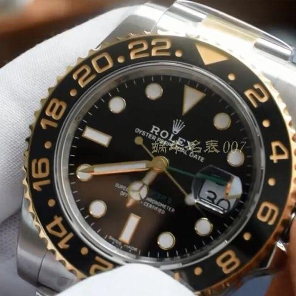 【视频评测】AR厂1比1高仿劳力士间金格林尼治型II手表116713-LN-78203腕表