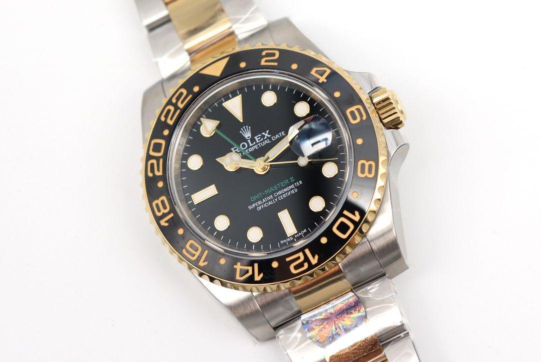 【视频评测】AR厂1比1高仿劳力士间金格林尼治型II手表116713-LN-78203腕表 / R676