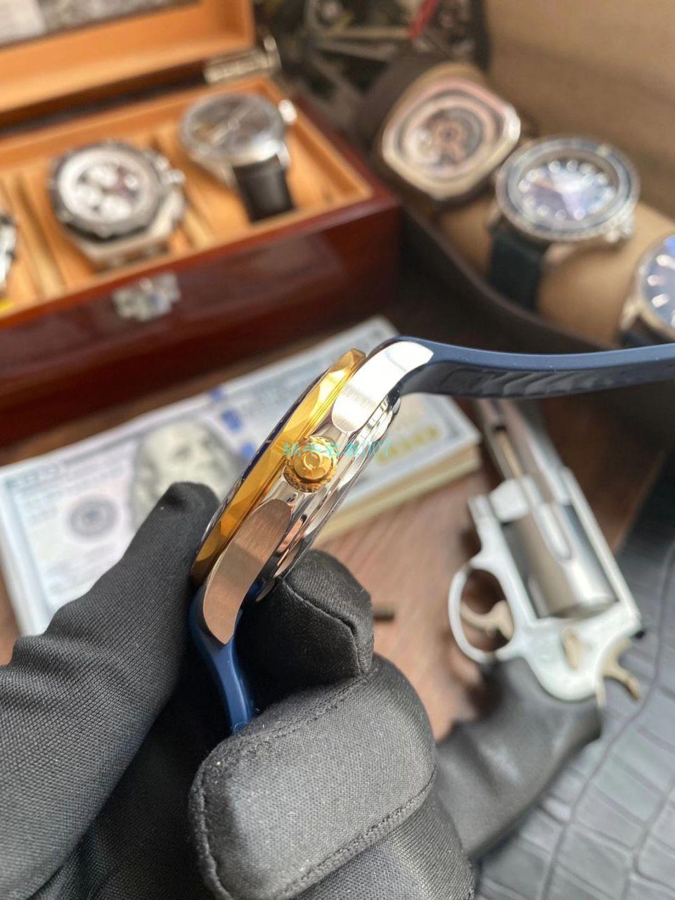 VS厂欧米茄海马300米间黄金蓝盘1比1超A复刻手表210.22.42.20.03.001腕表 / VS781