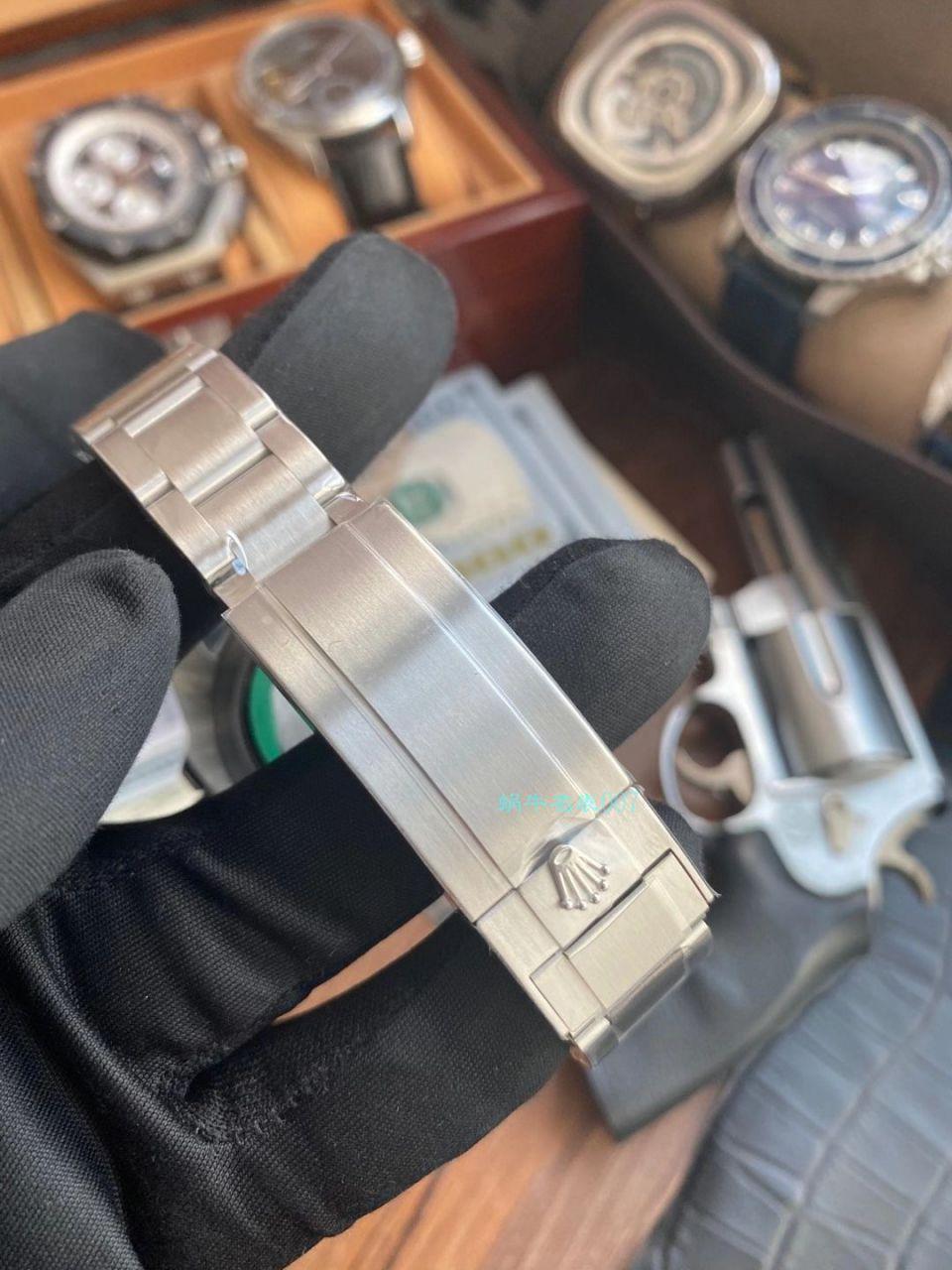 AR厂劳力士潜航者型1比1高仿手表无日历无历黑水鬼114060-97200 黑盘腕表 / R677