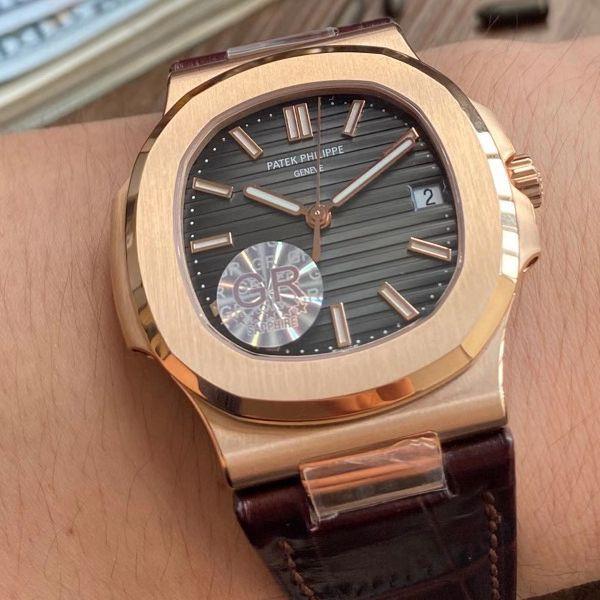 GR厂V2版本1比1超A高仿手表百达翡丽鹦鹉螺5711R 玫瑰金腕表