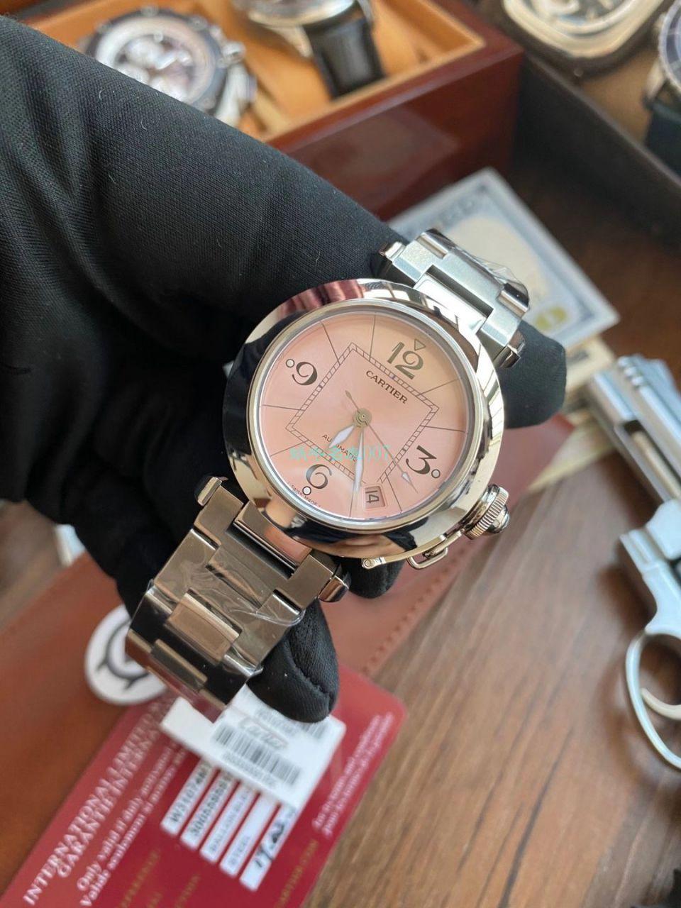 【高品质的复刻手表】V9厂卡地亚帕莎女表W31074M7,W31075M7,WSPA0013腕表 / K319
