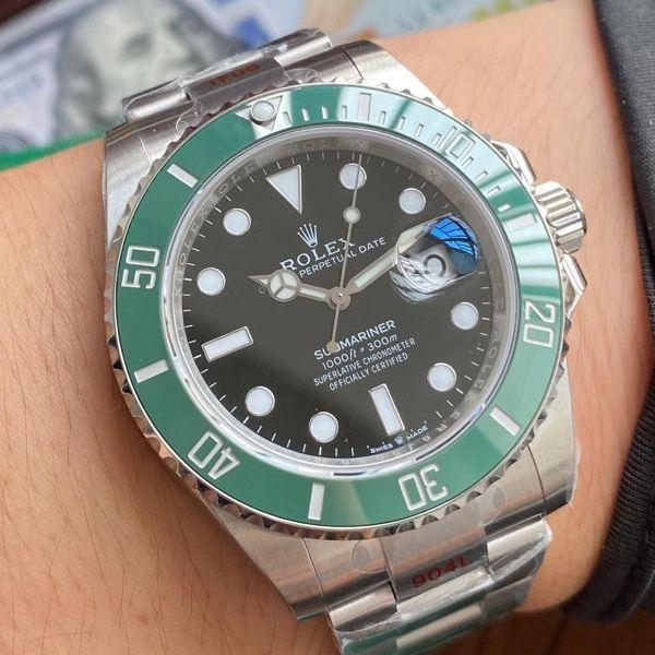 视频评测EW厂劳力士专柜新款绿水鬼1比1超A高仿手表41毫米m126610lv-0002腕表