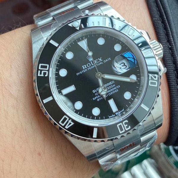 【视频评测】EW厂劳力士专柜新款41毫米黑水鬼顶级1比1精仿手表m126610ln-0001腕表