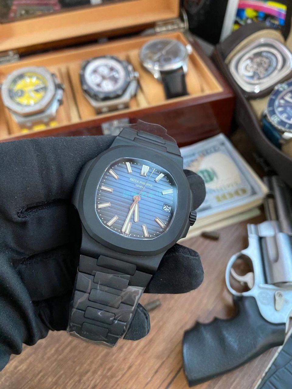 PPF厂V4 DCL版(金刚石碳涂层表壳)百达翡丽鹦鹉螺1比1超级复刻手表5711/1A-010 / BD360