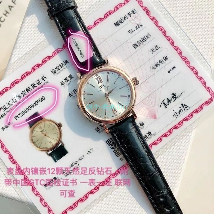 渠道原单IWC万国柏涛菲诺系列女装IW357408腕表 / WG597