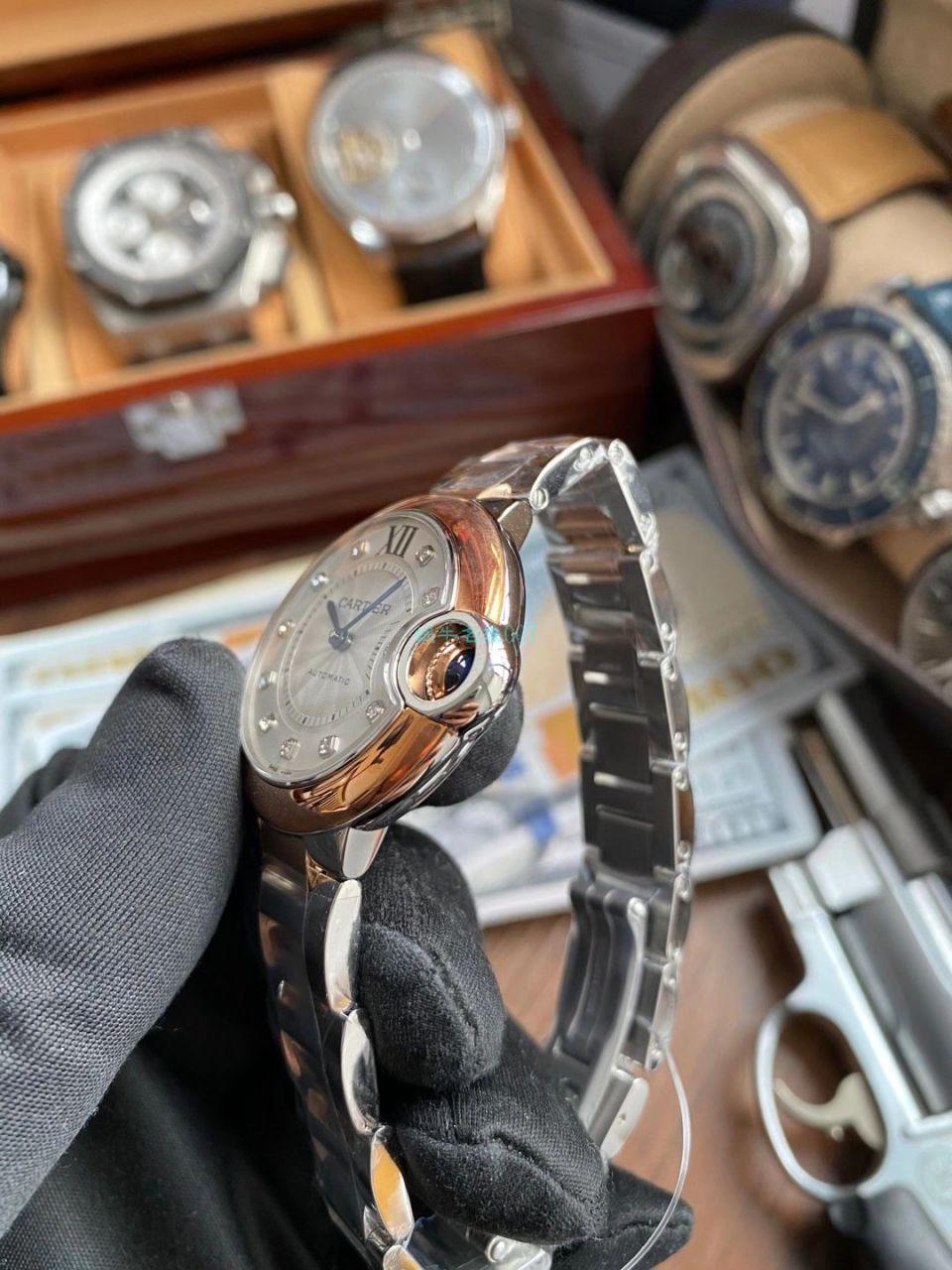 【视频评测】V6厂卡地亚蓝气球女装33毫米W3BB0006腕表 / K322