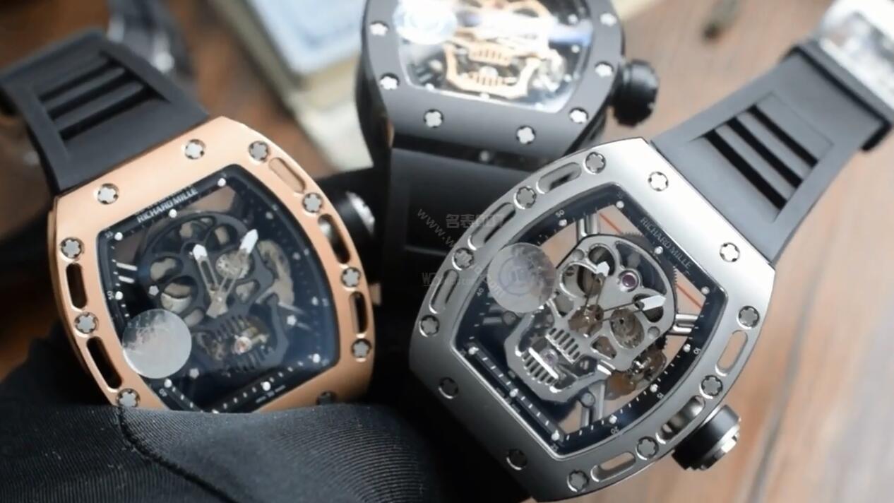 【视频评测】JB厂里查德米尔一比一顶级复刻手表男士系列RM 052骷髅头腕表 / RM 052JBG