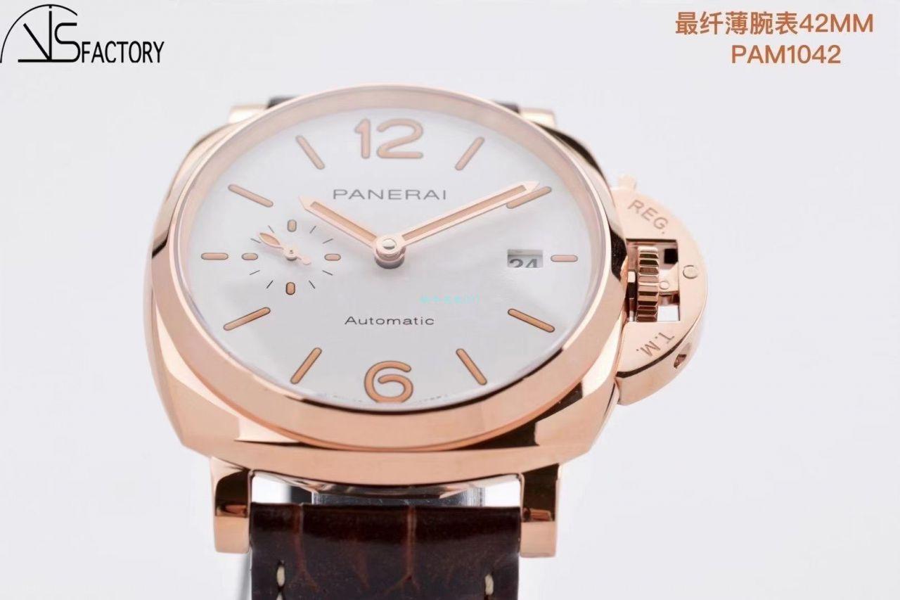 VS厂沛纳海PAM1042一比一超A精仿手表LUMINOR DUE小红金PAM01042腕表 / VSPAM01042
