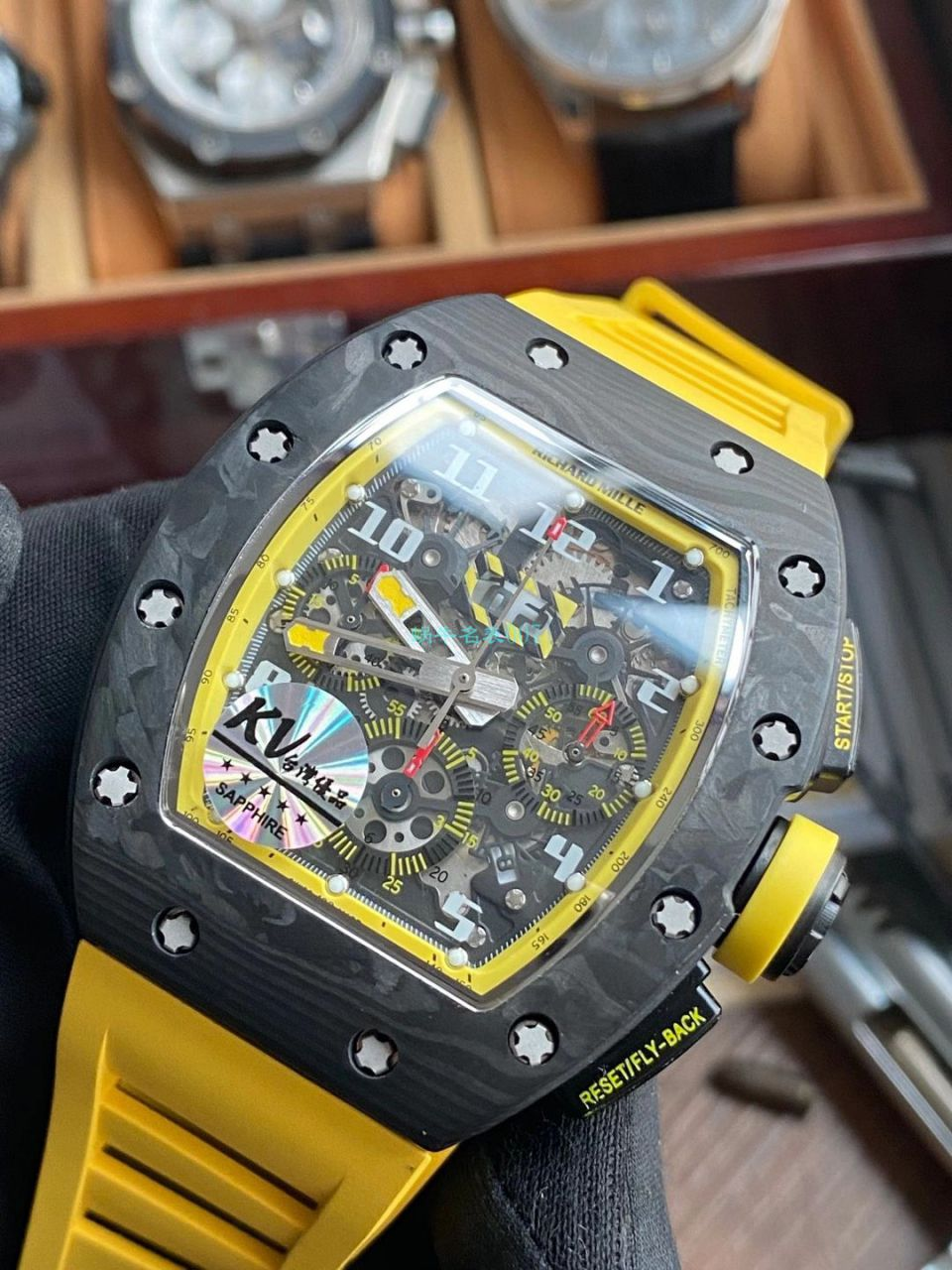 KV厂理查德米勒RM011 Yellow Storm黄色风暴一比一复刻手表 / KVRM011Yellow Storm