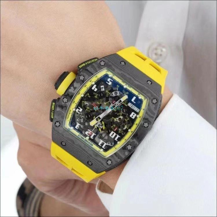 KV厂理查德米勒RM011 Yellow Storm黄色风暴一比一顶级精仿手表 / KVRM011YellowStormB