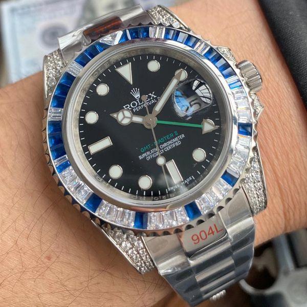 【视频评测】劳力士T钻奢华版格林尼治GMT顶级复刻手表