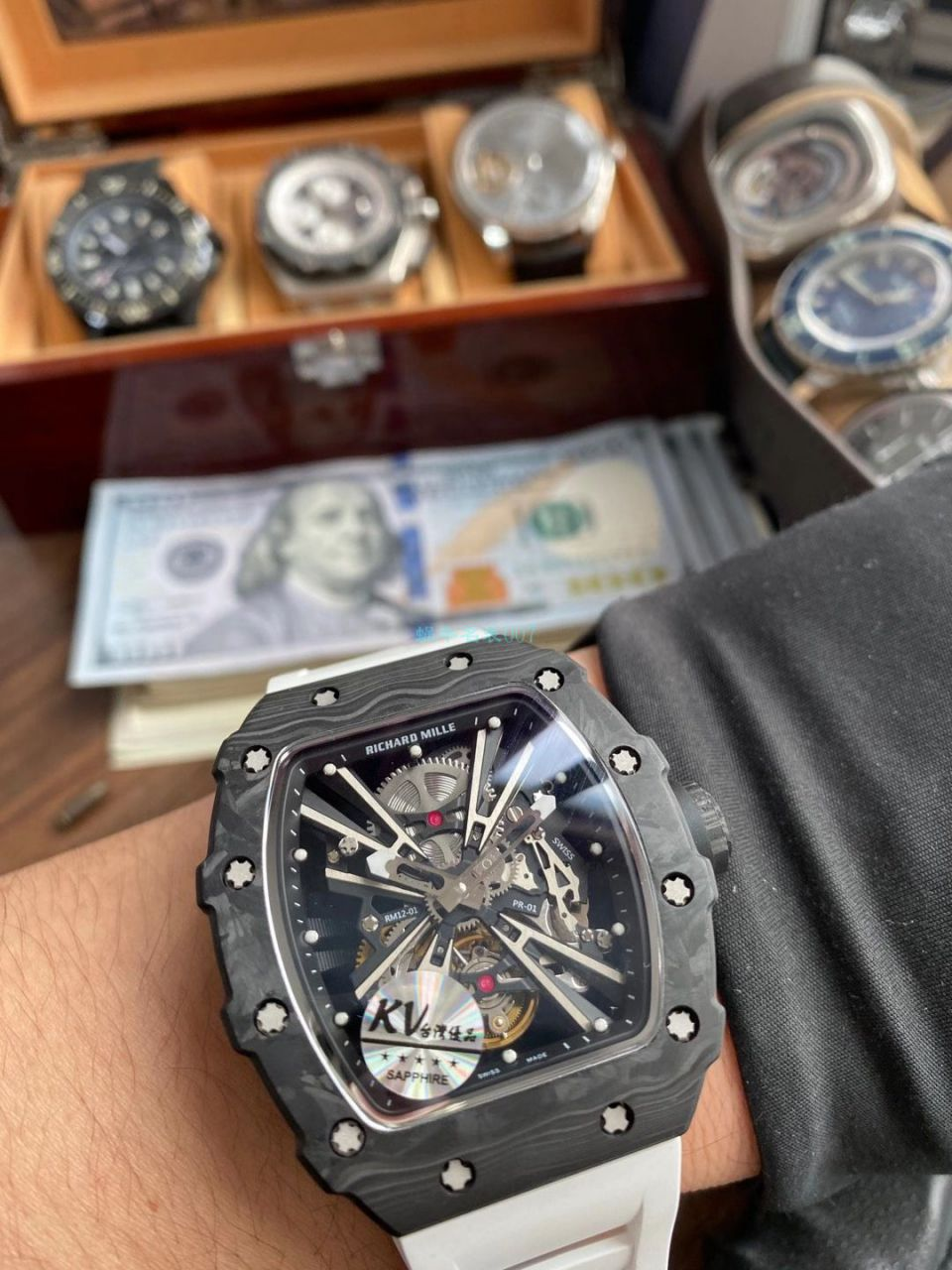 KV厂RICHARD MILLE 理查德米勒RM 12-01 限量陀飞轮一比一顶级复刻手表 / RM12-01KV