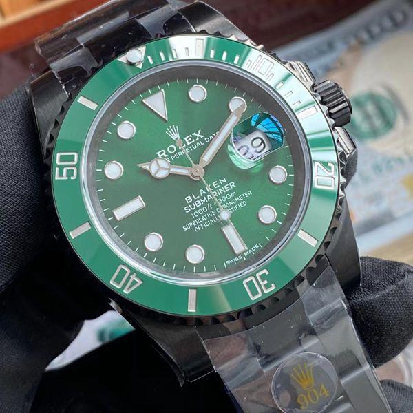 V6Factory2020年跨年力作~劳力士BLAKEN 改装定制绿水鬼手表