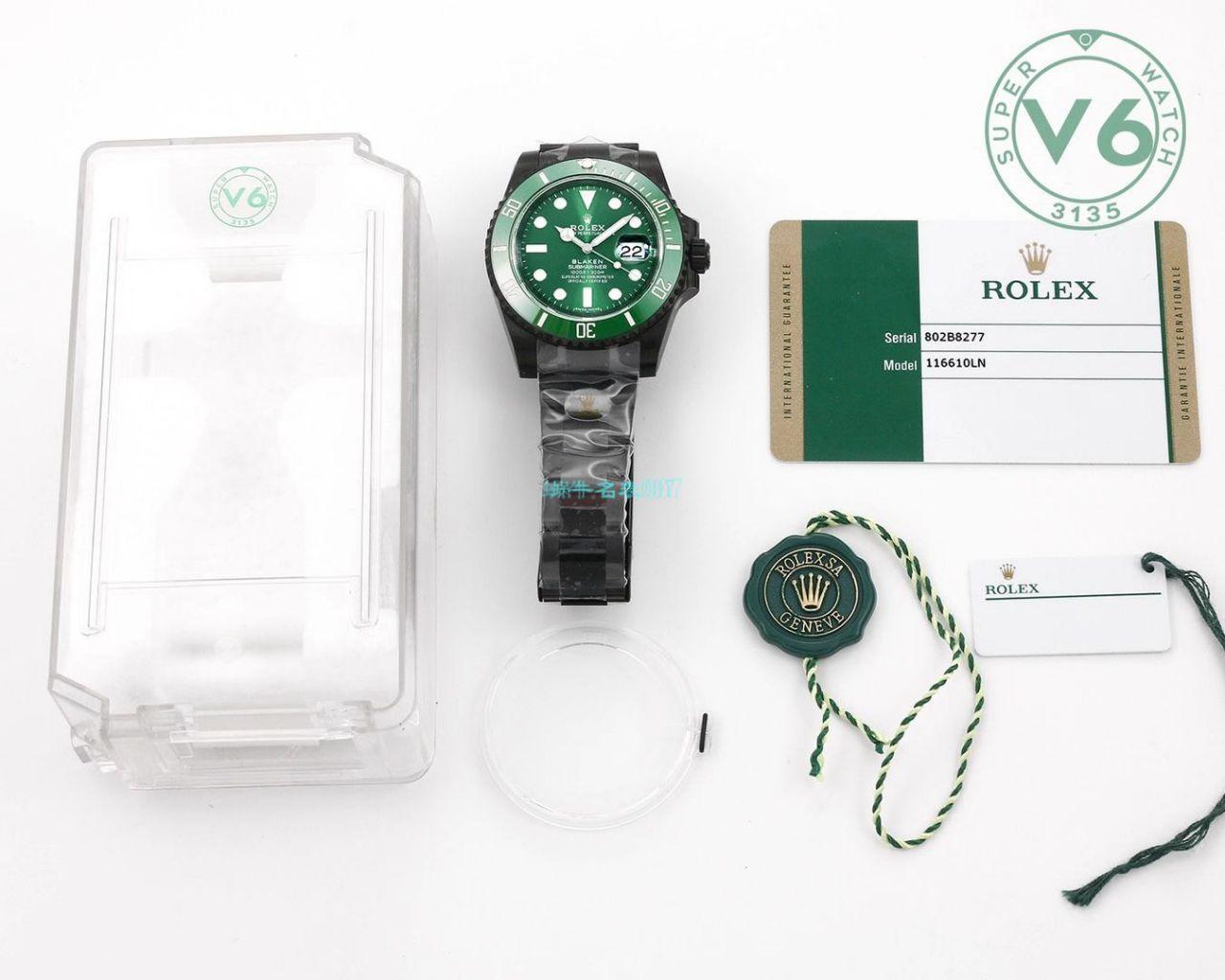 V6Factory2020年跨年力作~劳力士BLAKEN 改装定制绿水鬼手表 / R707