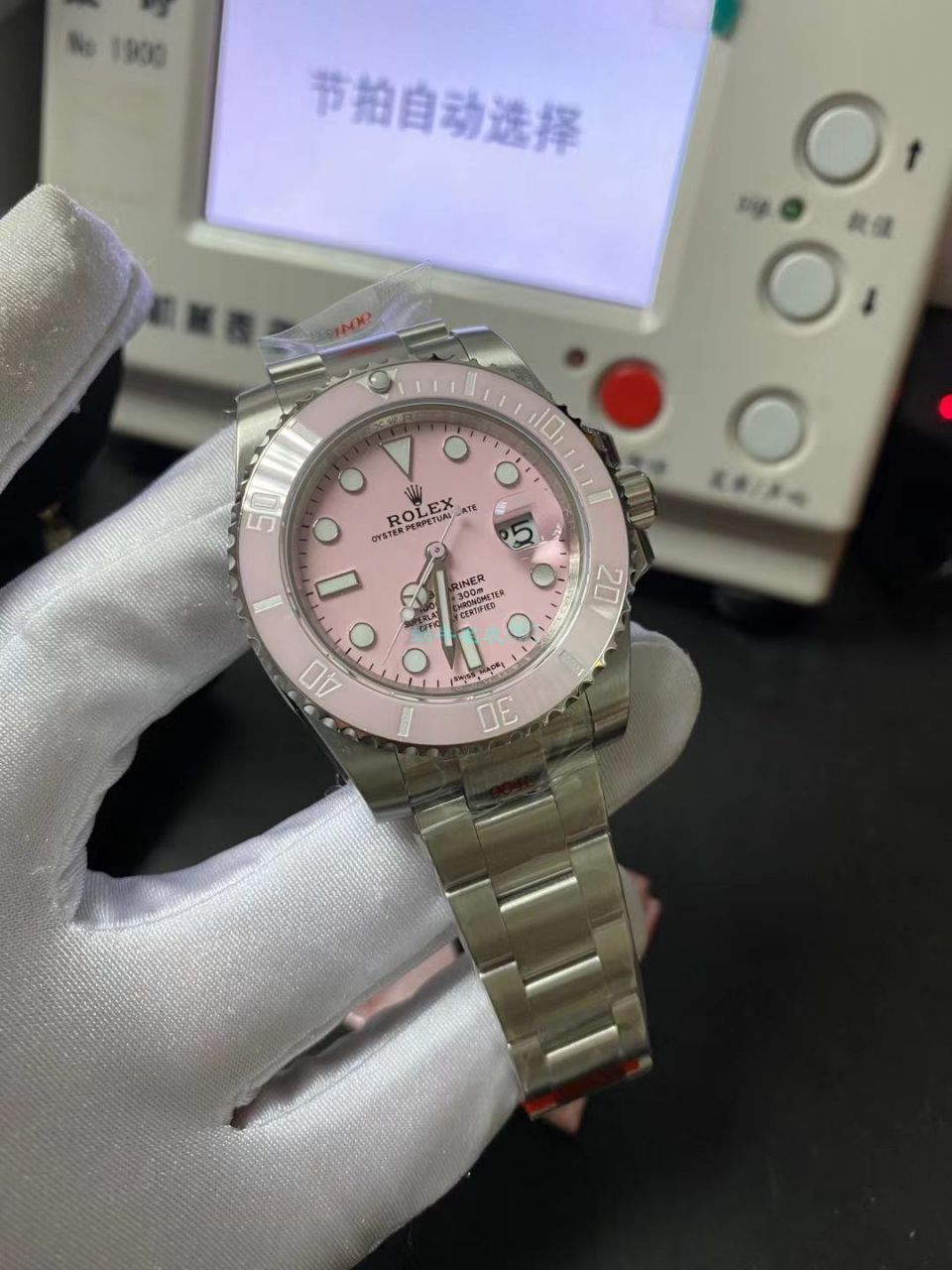 GM厂更新V2版本劳力士粉水鬼1比1高仿女士手表 / R719