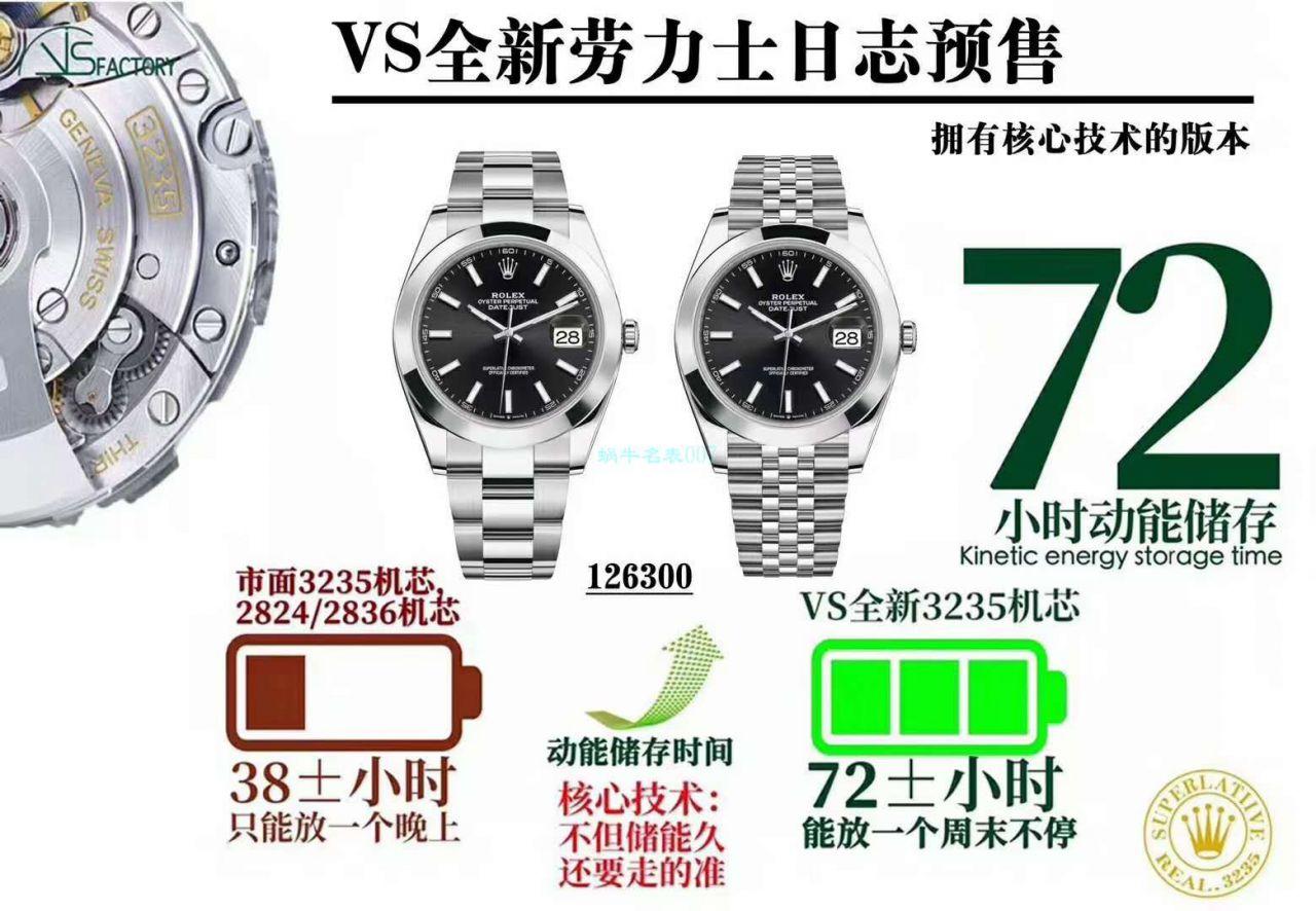 视频评测VS厂劳力士日志型41系列m126300-0002超A1比1复刻腕表 / R721