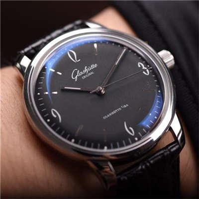 【YL厂出品】格拉苏蒂原创20世纪复古系列1-39-52-04-02-04机械腕表《黑面》