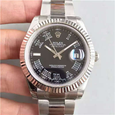 【EW厂1:1高仿手表】劳力士日志型系列116300黑盘腕表