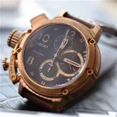 【视频解析】UB厂1:1复刻手表U-BOAT青铜腕表