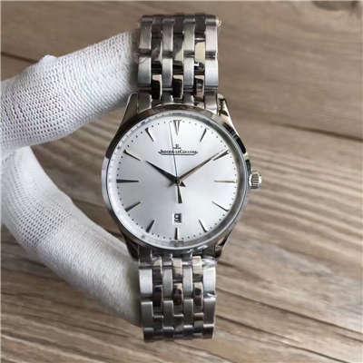 【台湾厂1:1高仿手表】积家大型超薄日历大师系列腕表 Q1288420腕表价格报价