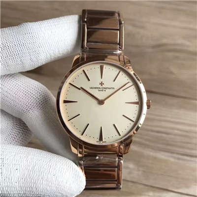 【台湾厂一比一超A高仿手表】江诗丹顿传承系列81180/CB1R-9159腕表