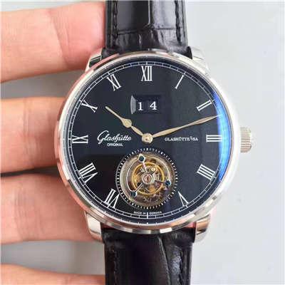 【TF厂顶级复刻手表】格拉苏蒂原创艺术与工艺系列1-94-03-04-04-04陀飞轮腕表