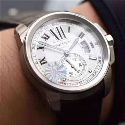 【独家视频解析JF一比一超A高仿手表】卡地亚CALIBRE DE CARTIER卡历博系列W7100013腕表