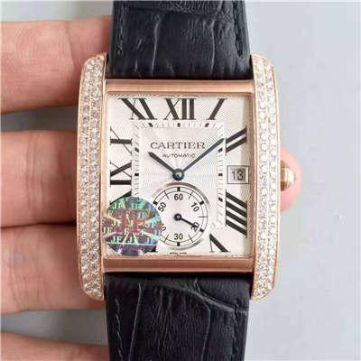 【JF厂一比一超A高仿手表】卡地亚坦克系列WT100021腕表