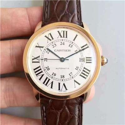 【A8厂出品1:1超A高仿手表】卡地亚RONDE DE CARTIER系列W6701009腕表