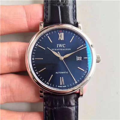【独家视频测评MK厂1:1高仿手表】万国 IWC 柏涛菲诺系列 大三针 IW356512 男士手表