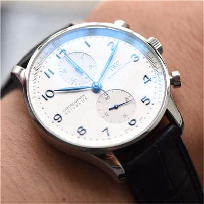 【独家视频测评】【YL厂V7版本一比一超A高仿手表】万国葡萄牙计时系列IW371417腕表(葡计烧钢蓝针)价格报价