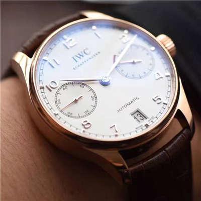 【独家视频评测】【ZF厂顶级一比一复刻手表】万国葡萄牙计时系列IW500701腕表(万国七日链)