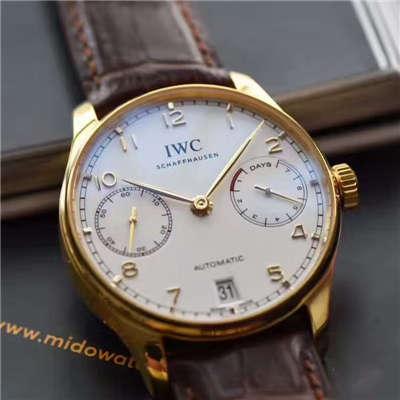 【ZF一比一超A高仿手表】万国葡萄牙七天系列黄金版葡七IW500101腕表