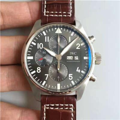 【ZF厂一比一复刻手表】万国CHRONOGRAPH飞行员系列IW377719腕表 皮带款