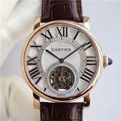 【BL厂一比一高仿手表】卡地亚ROTONDE DE CARTIER系列W1556215陀飞轮腕表